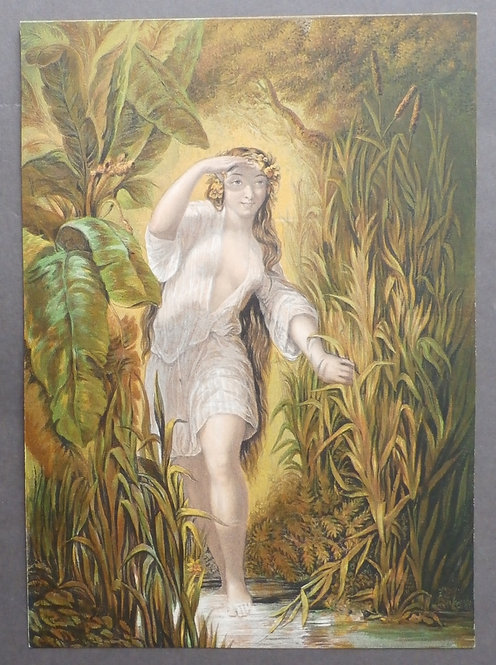 Circassian Lady at the Bath / Girl at the Bath - George Baxter - Le Blond & Co - Le Blond Baxter