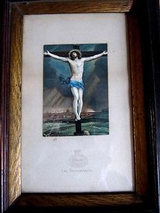 fake Baxter Print - The Crucifixion