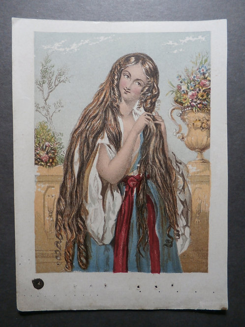 Joseph Mansell - Lady with Long Locks - Baxter Licensee