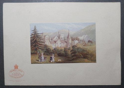 Balmoral Castle - George Baxter Print