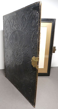 Victorian tooled Leather Photo Frame