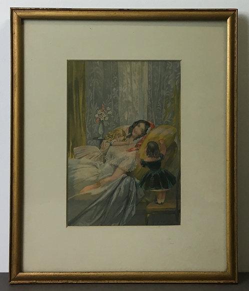 Infantine Jealousy - George Baxter Prints