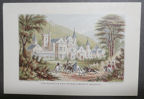 Her Majesty and His Royal Highness Prince Albert at Balmoral - Le Blond Print