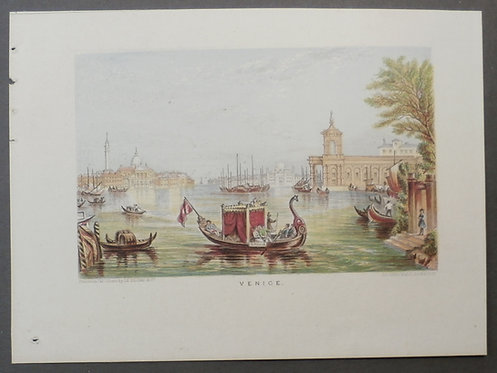 Venice - Le blond & Co Print Licencees of George Baxter