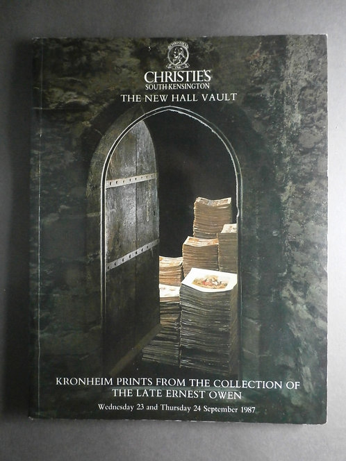 J M Kronheim Christies Auction Catalogue 1987