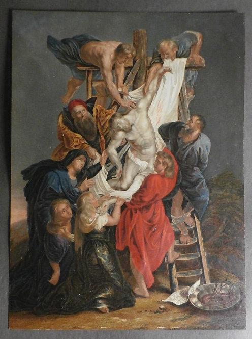 The Descent from the Cross or La descente de la Croix - George Baxter Prints - Rubens
