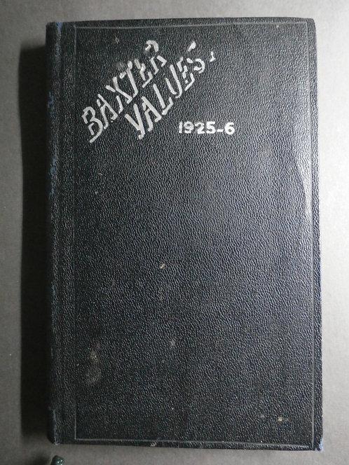 George Baxter Prints Values – 1925 – 6