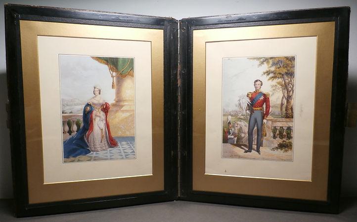 England's Queen & Prince Albert - George Baxter Prints