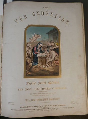 The Adoration Birth of The Saviour printed by Chromolithography