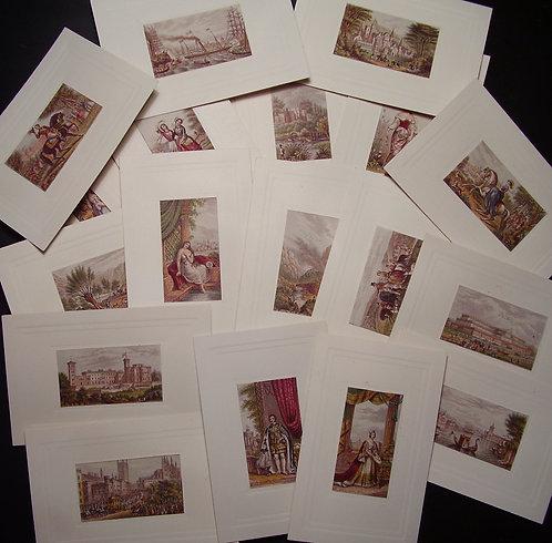 Le Blond - Needlebox Print - George Baxter Print Queen Victoria - Prince Albert