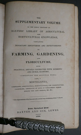 Baxter's Library of Agricutural and Horticultural Knowledge