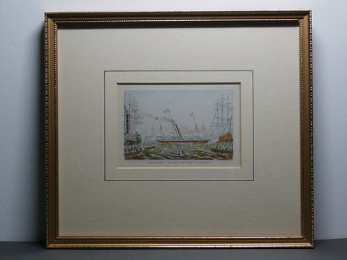 Her Majesty Leaving Portsmouth Harbour - Queen Victoria - Le Blond Print