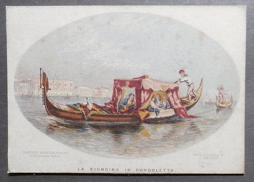 La Biondina in gondoletta - George Baxter Print