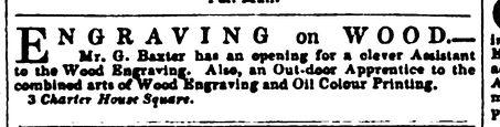 Baxter advert - Literary Gazette July 16