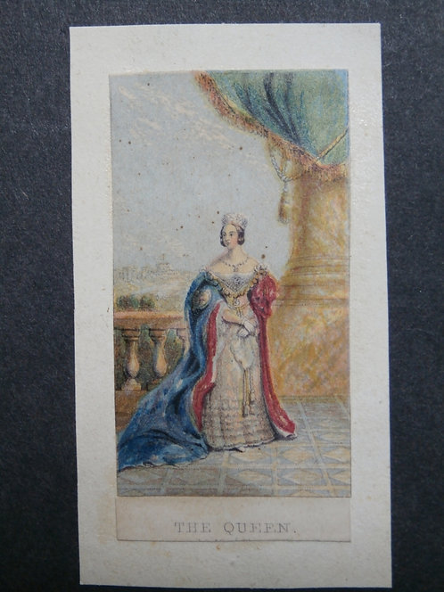 The Queen Victoria - Needle-box print - George Baxter