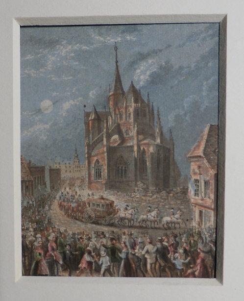 Eu Cathedral - George Baxter Print
