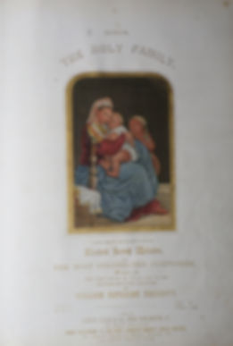 George Baxter  - The Holy Family - Admired Sacred Melodies