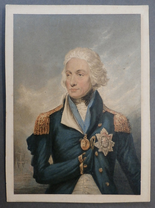 Lord Nelson - George Baxter Print