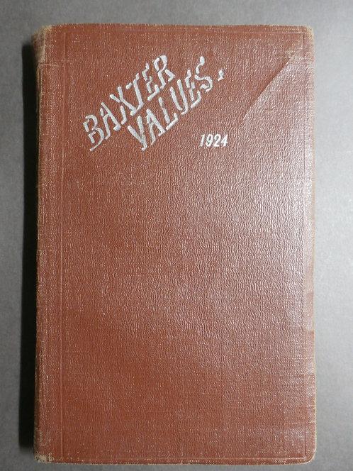 Baxter Values 1924