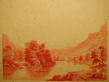 The Lake Scene in the Highlands by GeorgeBaxter Jr - this being passed off as a genuine Baxter Print