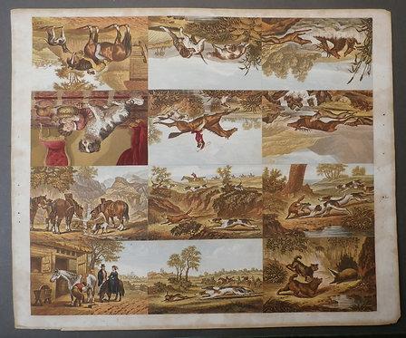 Kronheim - COMPLETE SHEET of TWELVES prints - Hunting & Sporting