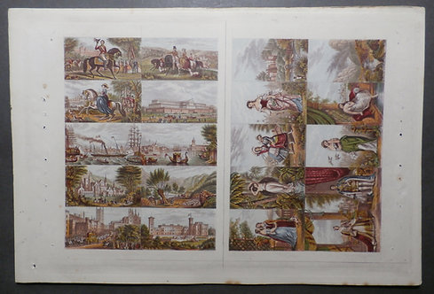 Le Blond & Co - Fancy Set AND Regal Set of Needle box prints 1850's
