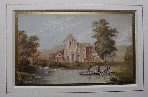 Crucis Abbey - George Baxter Print