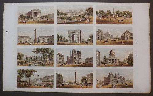 Kronheim - Paris - Notre Dame - Le Louvre - Palais Royal - L'Arc De Triomphe - Place De La Concorde