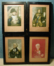 Naploleon I, Prince Albert, Nelson, Duke of Wellington - a common set of fake Baxter Prints