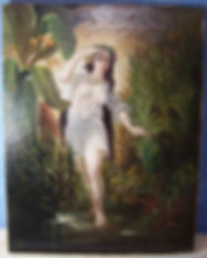 Circassian Lady at the Bath - George Baxter - Wingael