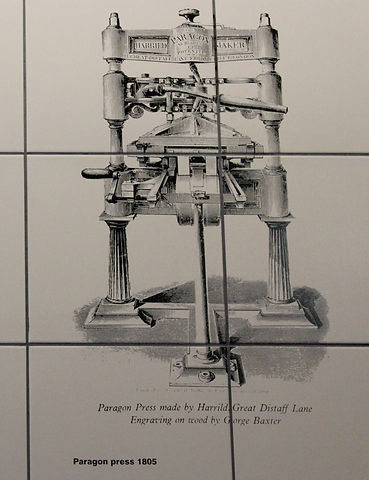 Paragon press - George Baxter engraving