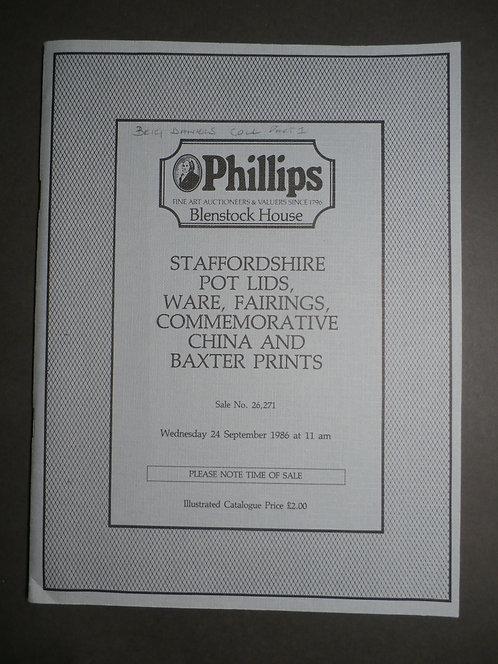 Important Phillips Auction Catalogue - Brigadier Daniels Collection 1986 - George Baxter Prints