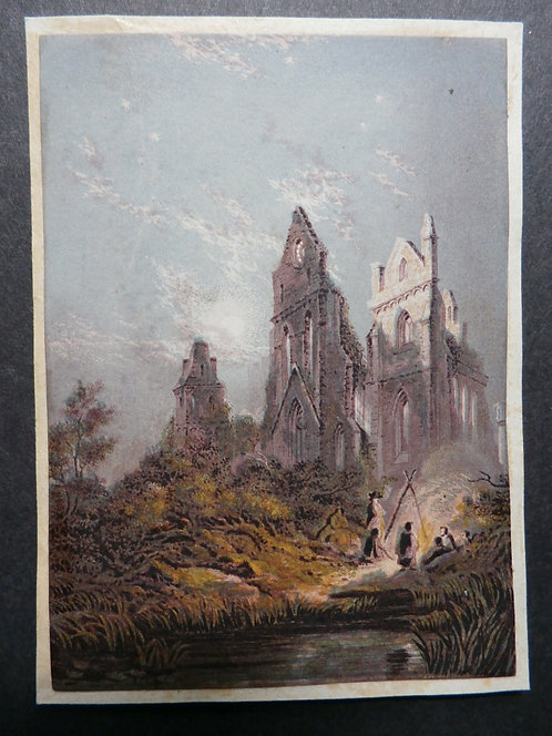 St Ruths Priory - Suttaby's - George Baxter Print