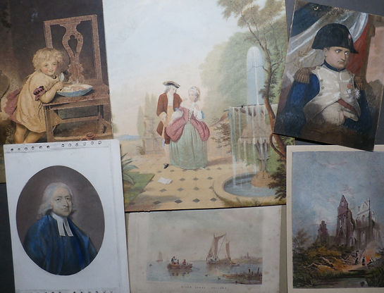 Examples of some hand coloured fake Baxter Prints