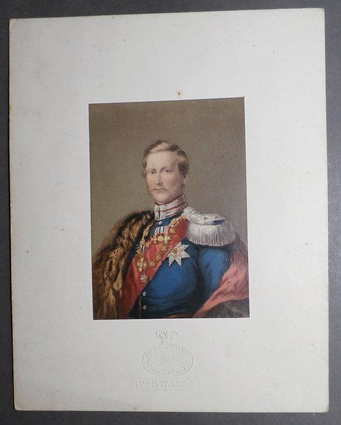 Prince Frederick Wm. of Prussia - George Baxter Print