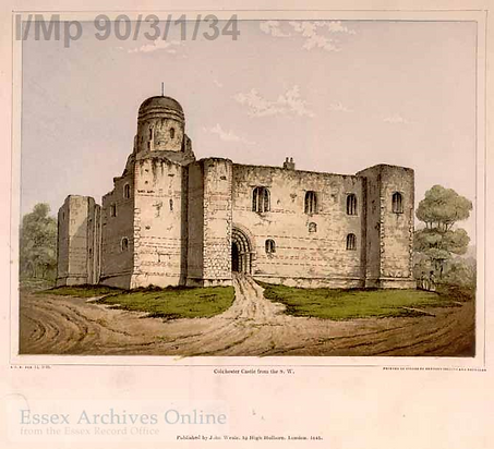 Colchester Castle by Gregory Collins & Reynolds 1845