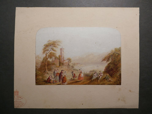 Lake Como - George Baxter Print