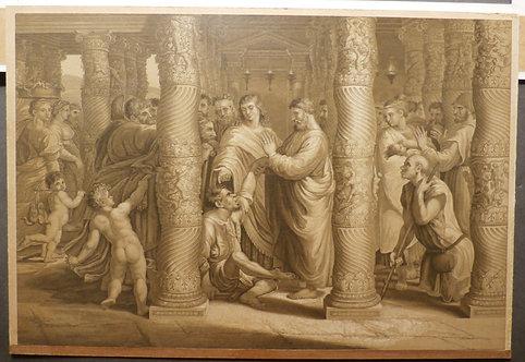 St. Peter and St. John healing the sick - George Baxter Print