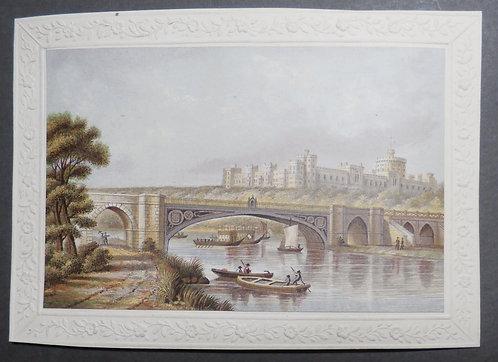 Victoria Bridge Windsor London Le Blond  - Baxter Print