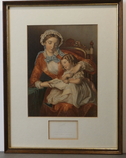 The First Lesson - Halle - George Baxter print
