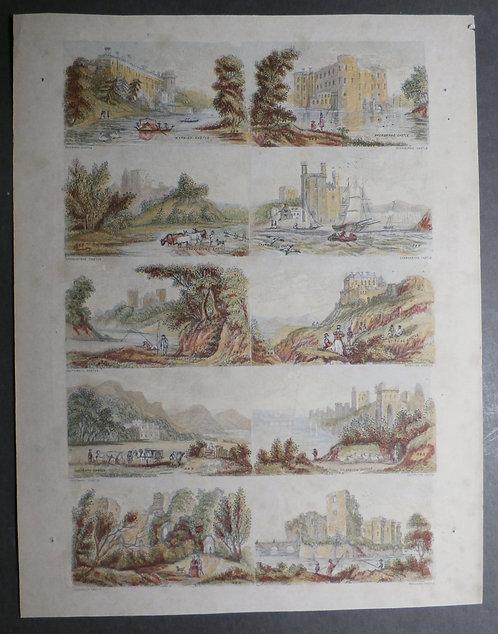 Needle box prints – Castles – Bradshaw & Blacklock - George Baxter