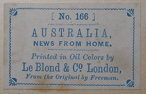 Le Bolnd  Co - their blue label from the revese of some their prints