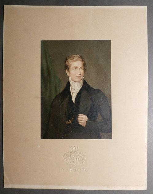 George Baxter Print - Sir Robert Peel