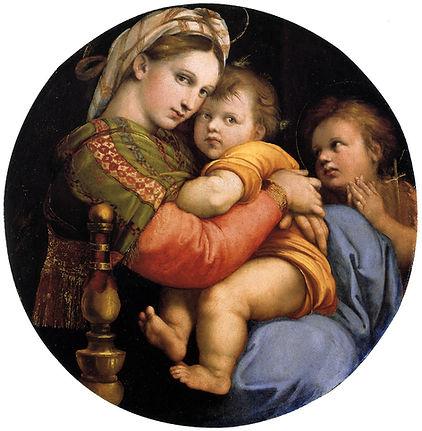 """Raphael """"Madonna della seggiola""""  Palazzo Pitti in Florence"""