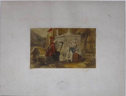 The Welsh Harper - a fake Baxter Print