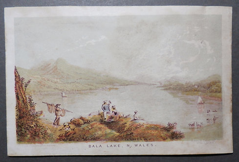 Bala Lake, North Wales - George Baxter Print