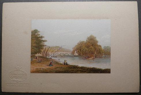 George Baxter Print - Richmond Bridge