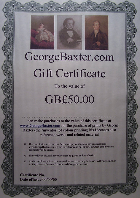 George Baxter Prints for sale
