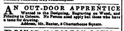 Baxter advert Literary Gazette Sept 16 1
