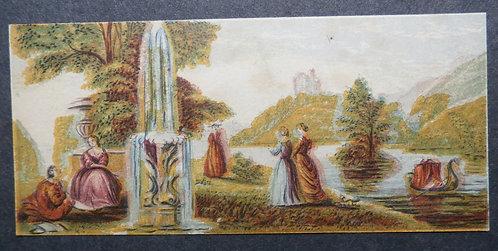 Bradshaw & Blacklock - River Garden Scenes - Needle box Prints - George Baxter Licensee
